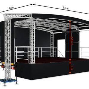 Alspaw profiled middle mobile stage 7,5m x 6m x 5,1m