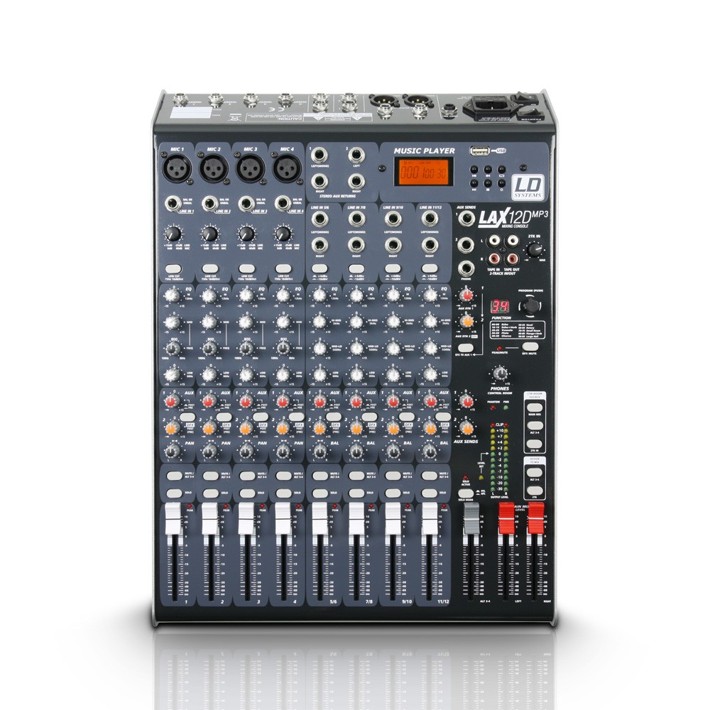 LD Systems LAX Series - Mixer 12-channel with DSP & USB MP3 Player