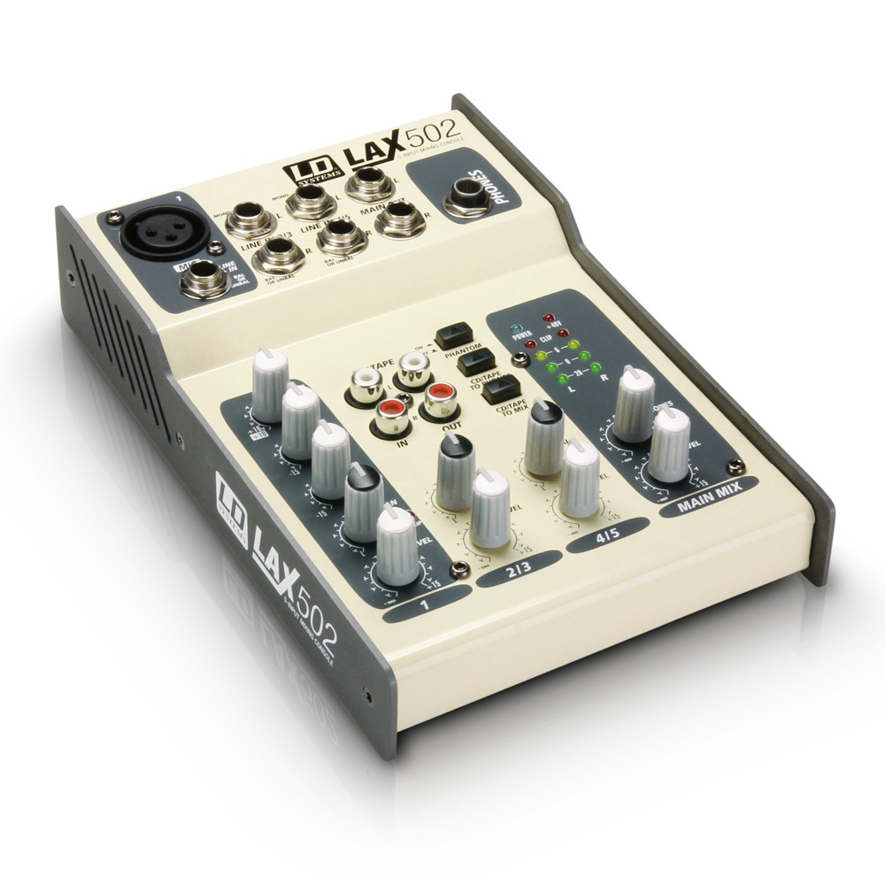 LD Systems LAX Series - Mixer 5-channel with Phantom Power
